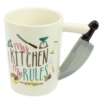 Curtis & Wade Novelty Mug Kitchen Knife Handle