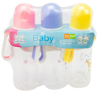 Baby & Me Apple Bear Baby Drinking Water Bottle 225ml 3 Pieces Assorted