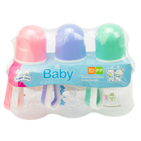 Baby & Me Apple Bear Baby Drinking Water Bottle 100ml 3 Pieces Assorted