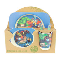 Baby & Me Bamboo Feed Set Eco Friendly Baby Kids Dinnerware Avengers