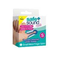 Safe + Sound Health Metal Thumb Small Finger Splint Support Brace 1 Pack