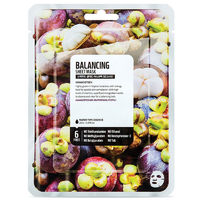 Superfood Balancing Face Mask Sheet Single Mangosteen Facial Care Cosmetics