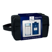 Yardley Equity Eau De Toilette & Talc Mens Wetpack Travel Toiletry Bag