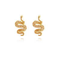 Culturesse Ade Gold Filled Snake Stud Earrings