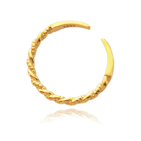 Culturesse Isabeau Gold Vermeil Twisted Open Ring
